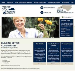 Forest City Housing Authority, North Carolina Website Screenshot