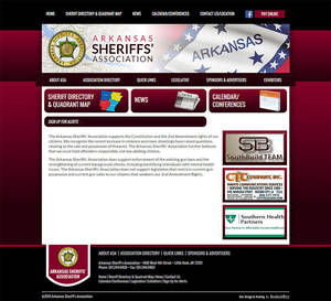 Arkansas Sheriffs' Association Website Screenshot