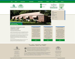 Camden Housing Authority Website Screenshot