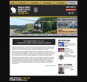 Douglas County Sheriff's Office, Wisconsin Website Screenshot