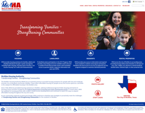 McAllen Texas Housing Authority Website Screenshot