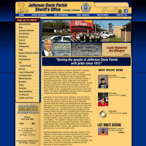 Jefferson Davis Parish Sheriff's Office, Louisiana Website Screenshot