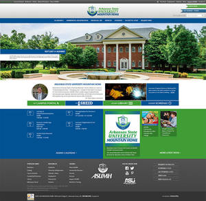 Arkansas State University - Mountain Home Website Screenshot