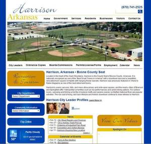City of Harrison, Arkansas Website Screenshot