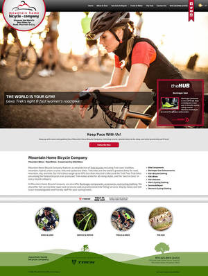Mountain Home Bicycle Company Website Screenshot