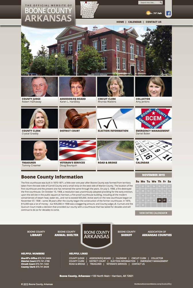 Boone County Government home page