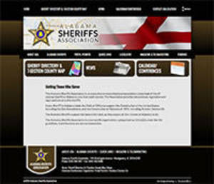Alabama Sherrifs Association Website Screenshot