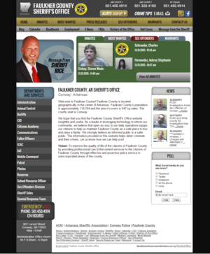Faulkner County Sheriff's Office, Arkansas Website Screenshot