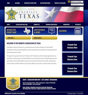 Sheriffs' Association of Texas Website Screenshot
