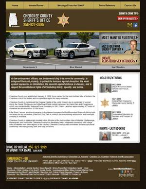 Cherokee County Sheriff's Office, Alabama Website Screenshot