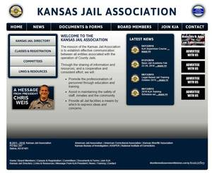 Kansas Jail Association Website Screenshot