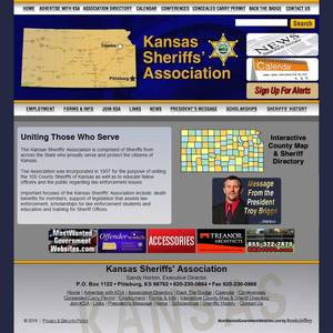 Kansas Sheriff's Association Website Screenshot
