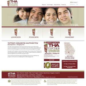 Tifton Housing Authority, Georgia  Website Screenshot