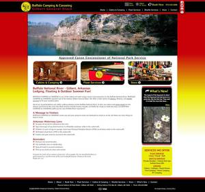 Buffalo Camping & Canoeing Website Screenshot