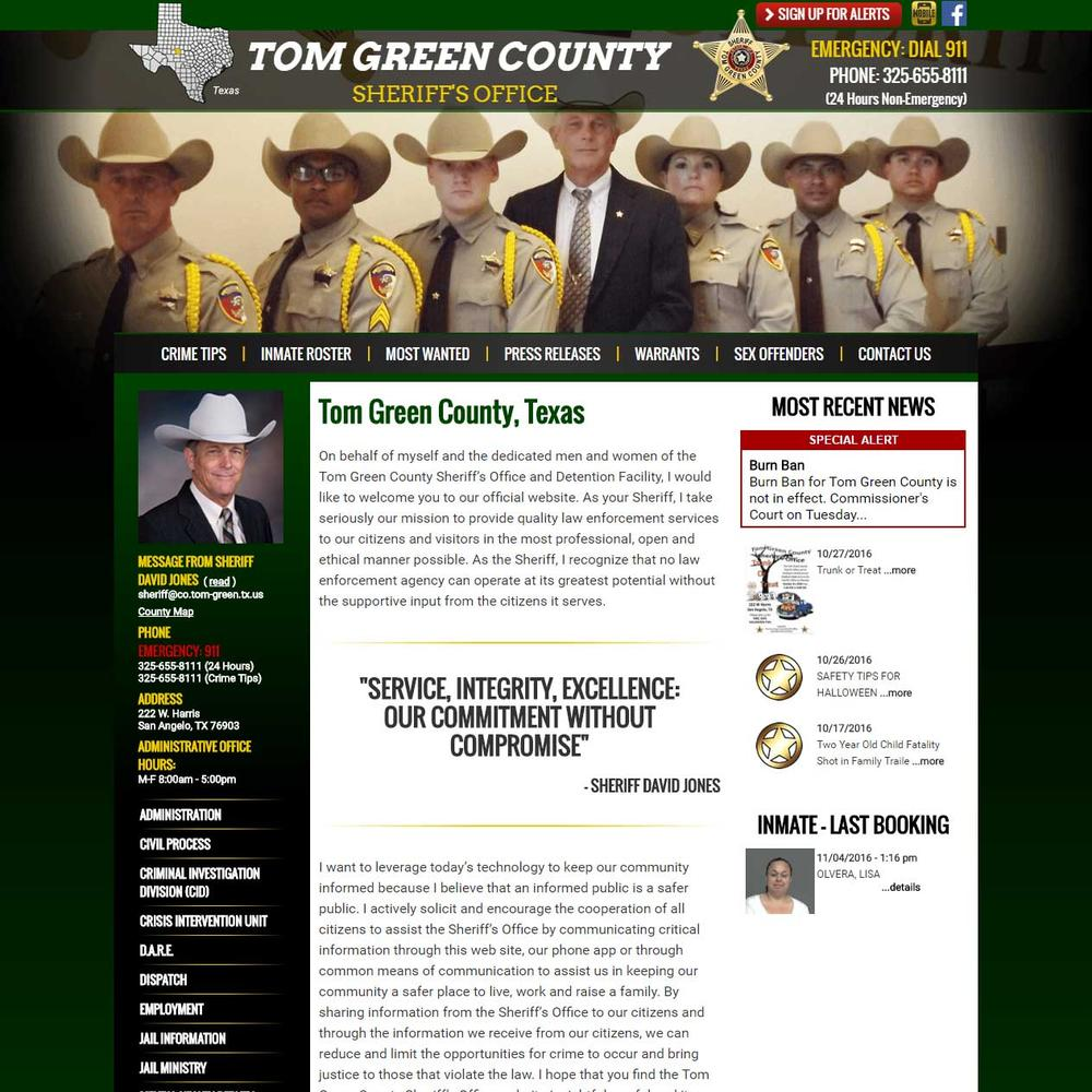 Tom Green County Sheriff Website
