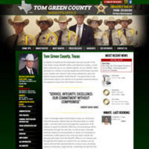 Tom Green County Sheriff, Texas Website Screenshot