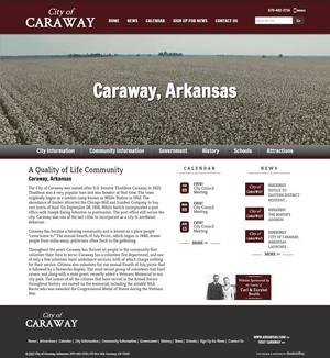 City of Caraway, Arkansas Website Screenshot