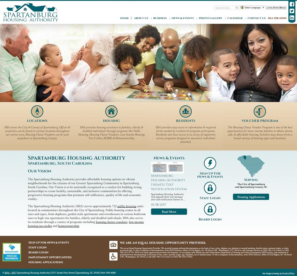 Spartanburg Housing Authority Website