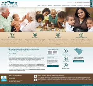 Spartanburg Housing Authority, South Carolina Website Screenshot