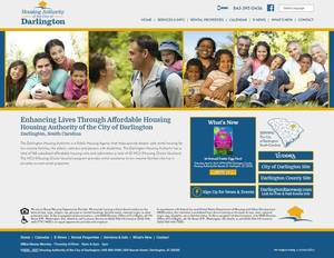 Darlington Housing Authority, South Carolina Website Screenshot