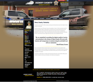 Henry County Sheriff's Office, Kentucky Website Screenshot