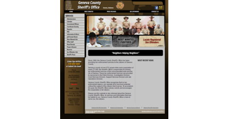 Geneva County Alabama Sheriff - Websites for Police