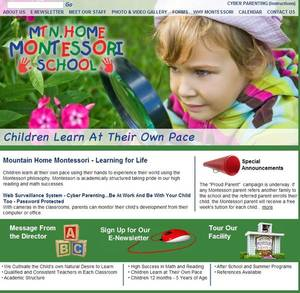 Mountain Home Montessori School Website Screenshot