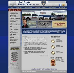 Pratt County Sheriff's Office, Kansas Website Screenshot