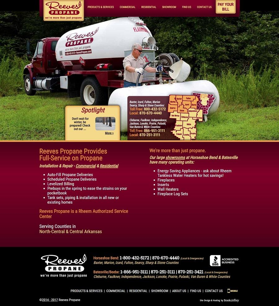 Reeves Propane Website Screenshot