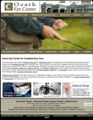 Ozark Eye Center Website Screenshot