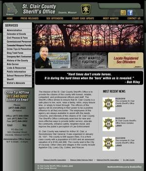 Barry County Sheriff's Office, Missouri - Websites for