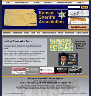 Kansas Sheriffs' Association Website Screenshot