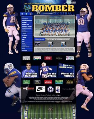 Mountain Home Bomber Football Website Screenshot
