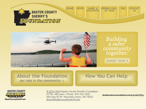 Baxter County Sheriff Foundation Website Screenshot