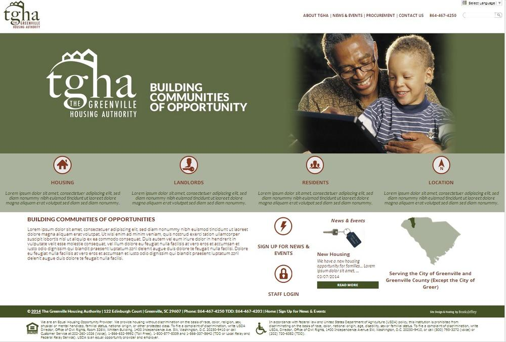 Greenville Housing Authority, South Carolina Website Screenshot