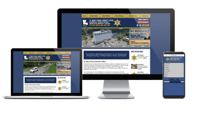 St. Mary Parish Sheriff's Office, Louisiana Website Screenshot