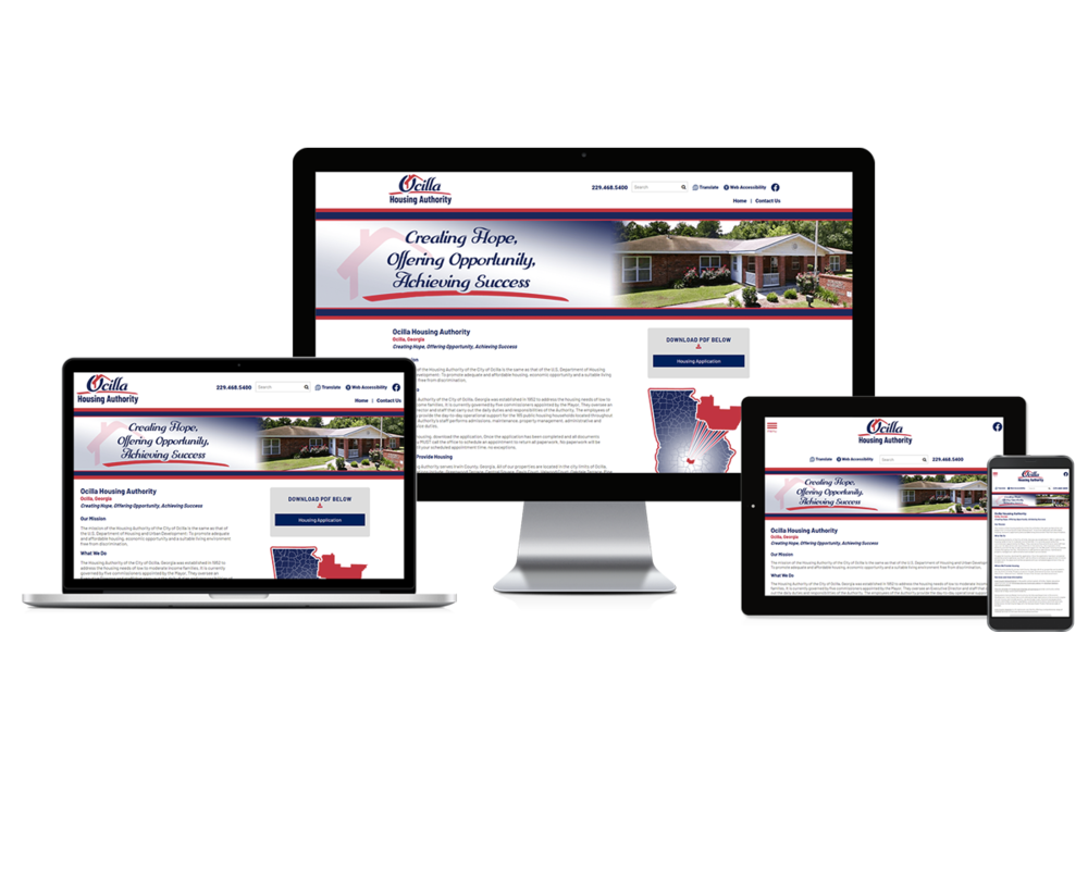 Ocilla Housing Authority Screen Mock-ups