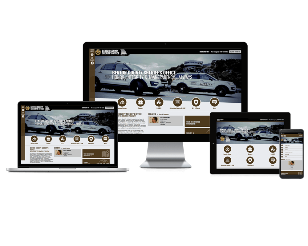 Benton County Sheriff Website Screen mockups