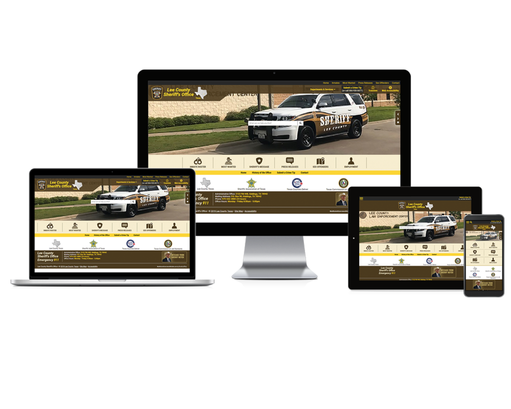 Lee County Sheriff Office Website Screen mockups