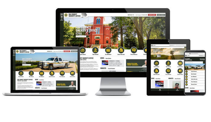 Ida County Sheriff's Office Responsive Website