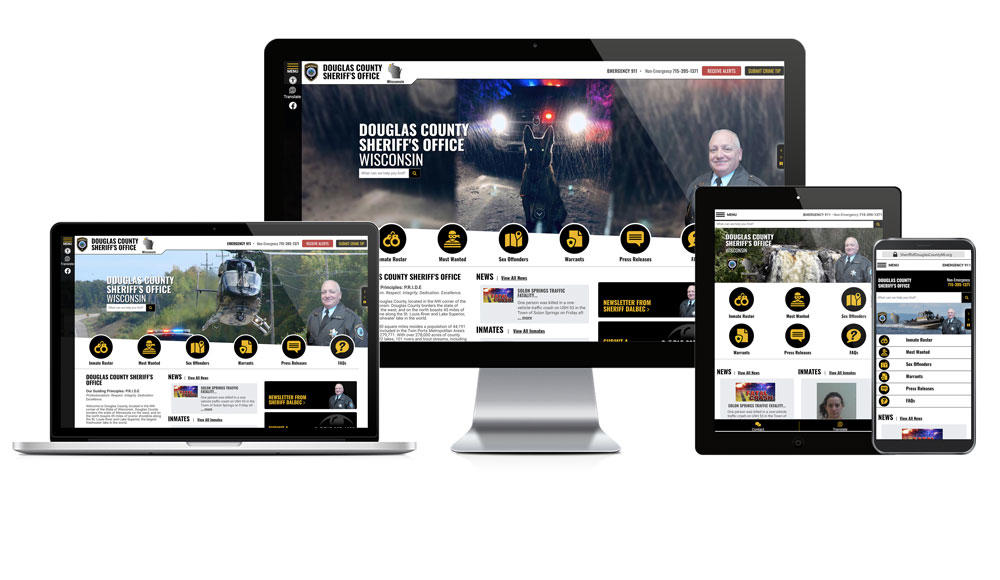 Douglas County Sheriff's Office website showcase on different devices.