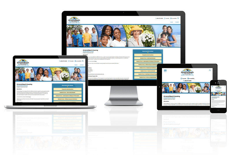 Ormond Beach Housing Authority website mockup