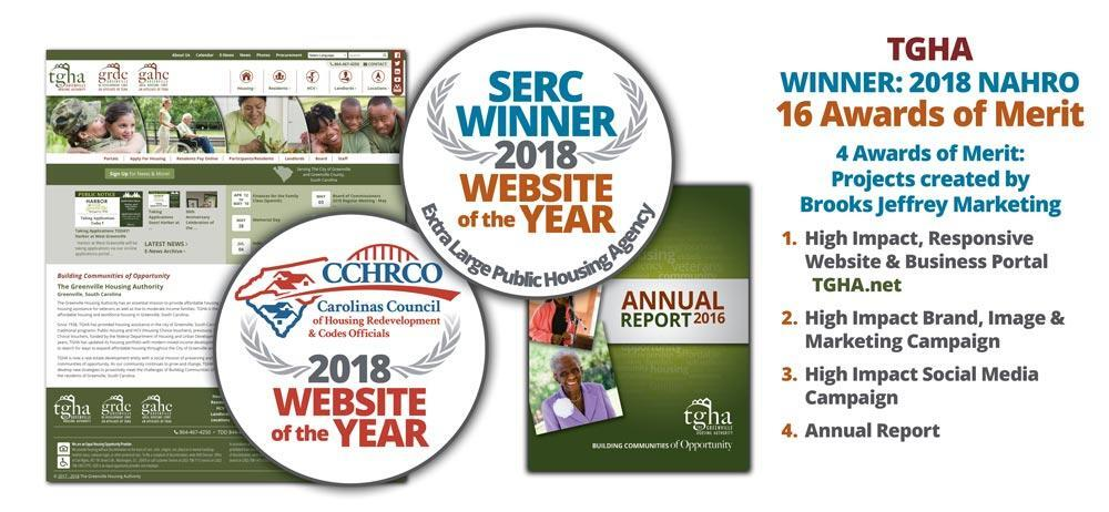 Several Awards won by the TGHA Websites